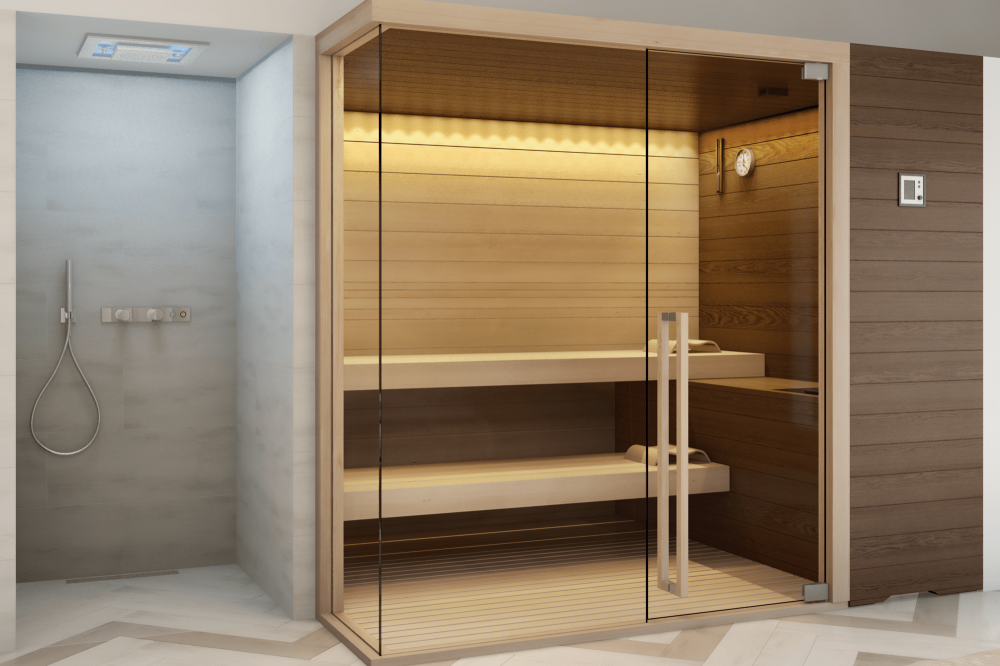 Evolution, la sauna in legno di Frassino - Spa & Wellness Solutions